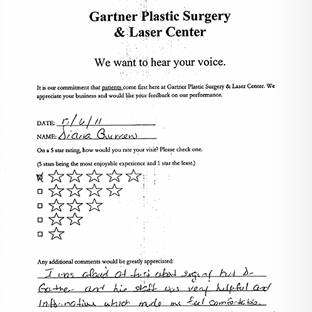 testimonials NJ Manhattan Paramus - Gartner Plastic Surgery